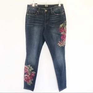 NWT Nine West - Floral Embroidered Jeans